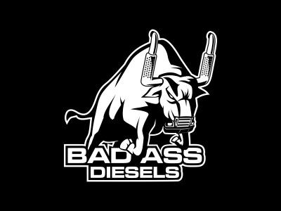 Badass Diesels Logo diesel bull angry