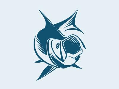 Tarpon tarpon fish logo animal mark symbol