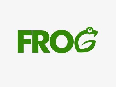 Logo Frog frog logo mark green