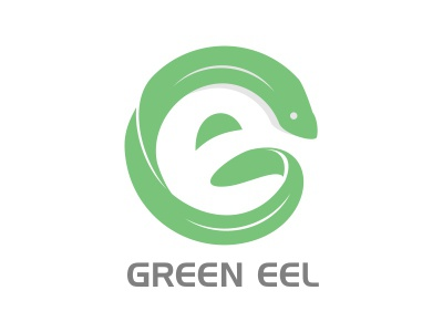 Green Eel Logo green eel logo mark animal