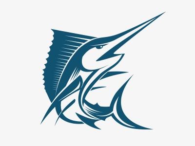 Swordfish Logo swordfish fish logo mark animal