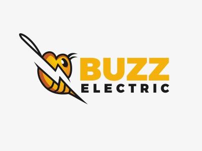 Buzz Electric Logo buzz electric logo animal bee lightning