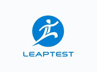 Leaptest Logo man logo circle leap