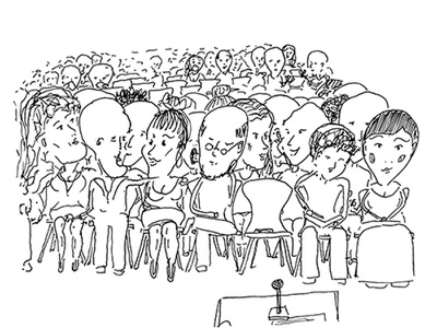 Sketch audience illustration