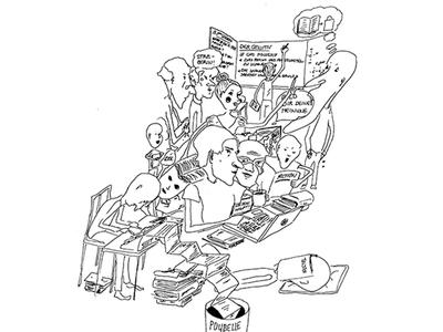 Illustration of a writer