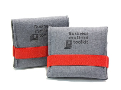 Business method toolkit packaging felt toolkit methods case business