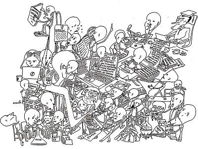 Sketch University boredom university graphic illustration sketch