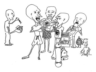 Junk Food Sketch