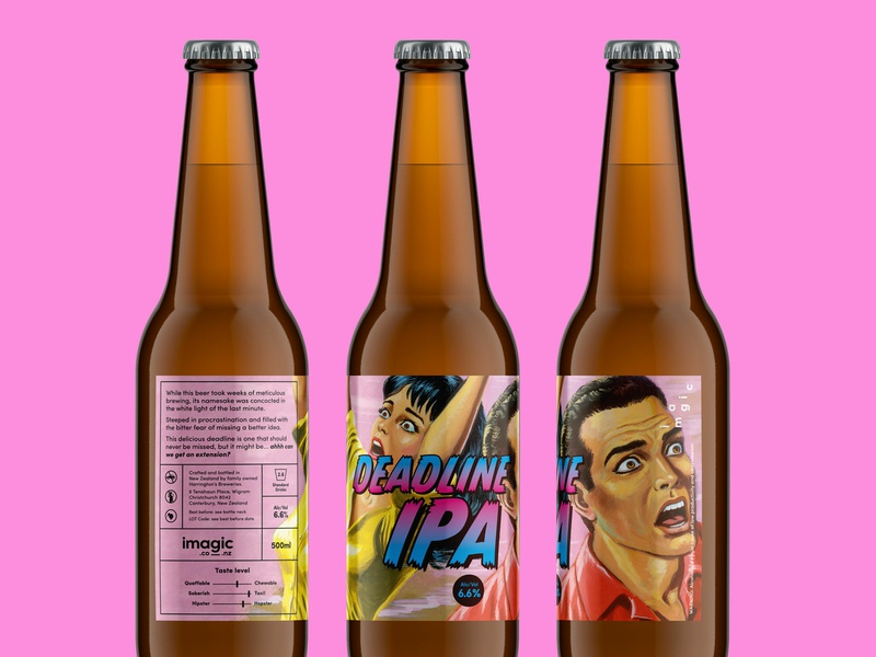 Imagic Beer self promotion color fun labels imagic beer