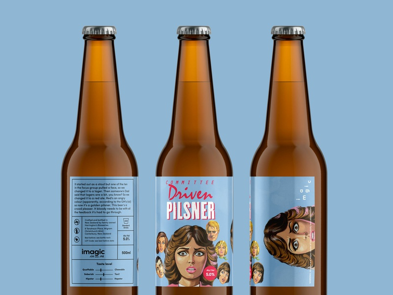 Imagic Beer imagic creative agency self promotion color beer label pilsner beer