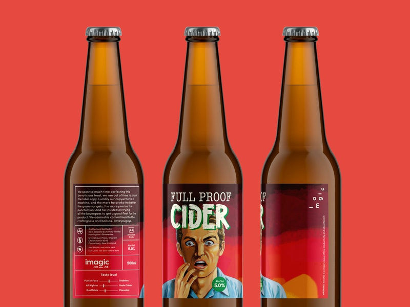 Imagic Cider beer labels beer label imagic creative agency self promotion color cider