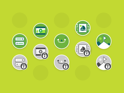 Minds for life, custom inconography iconography illustration user interface