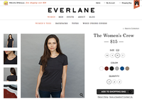 Everlane Product Page Concept