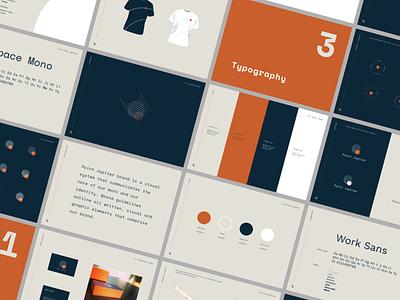 Point Jupiter - brand book planet lines agency jupiter space interaction typography design branding brandbook logo brand