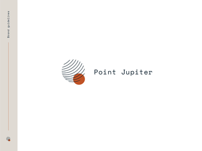 Brand Guidelines Point Jupiter agency brand book planet solar system spot jupiter lines space animation typography illustration design logo branding