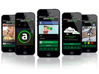 Adverdose video competition design ux ui mobile app adverdose