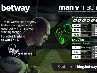 MAN v MACHINE tindall mike 2015 cup world press advertising rugby betway