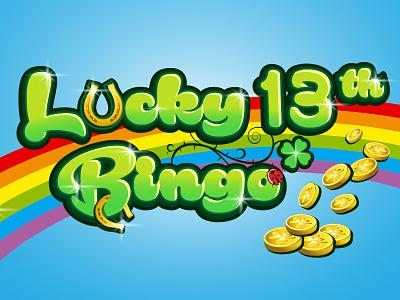 Lucky13 bingo gaming games logo design logo dream bingo