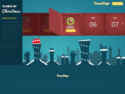 Dream Bingo 12 Days Of Christmas adobe cc illustrator website christmas dream bingo