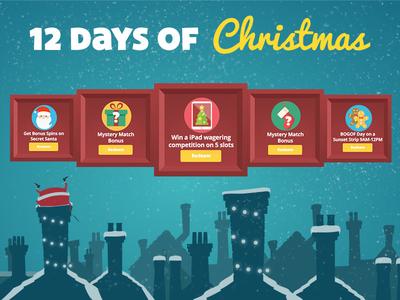 12 Days of Christmas adobe cc illustrator website christmas dream bingo