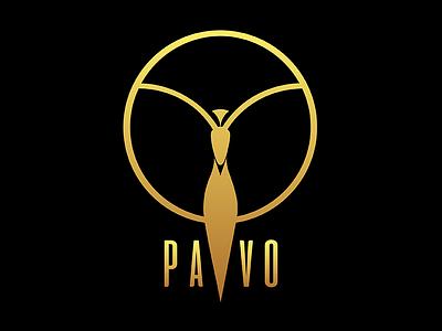 Pavo Logo vector illustrator circle peacock video productions club party brand identity brand branding logo logo design
