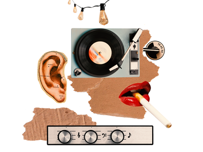 What do sound designers do all day?: Medium Article Collage card art abstract digital cover design print poster collage zajno