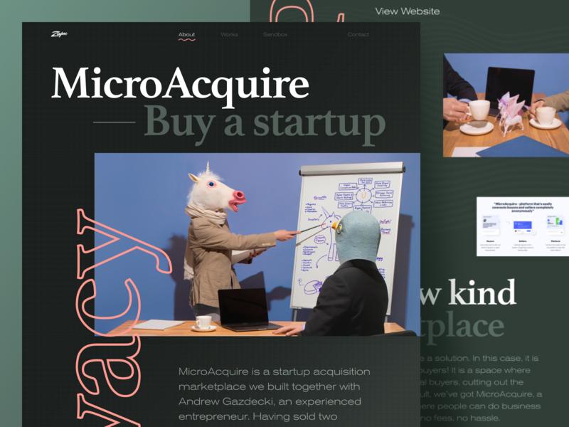 MicroAcquire Case Study unicorn photography case study website design web
