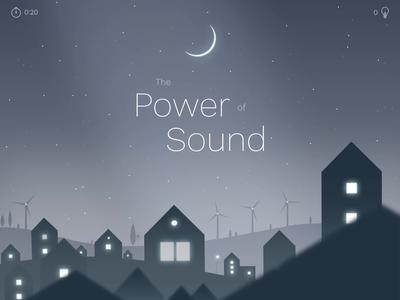 The Power of Sound wind turbines experience animated illustration illustration zajno design