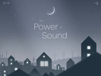 The Power of Sound wind turbines experience animated illustration illustration zajno design