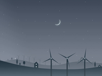 The Power of Sound: Creative Process wind turbines web experience animation illustration design