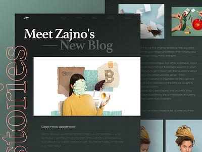 Zajno Blog Says Hi business creative inspiration art web design photography abstract story writing blog zajno bold typography character collage