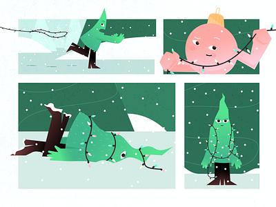 Catch the holiday vibe !🎄 christmas tree winter 2021 2020 celebration holiday new year christmas character design inspiration character illustration zajno