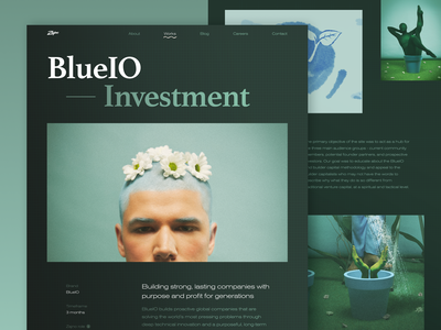 BlueIO Case Study investment future environment eco green proactive planet conceptual photoshoot modern earth blueio blue art photo photography works case study web design website zajno
