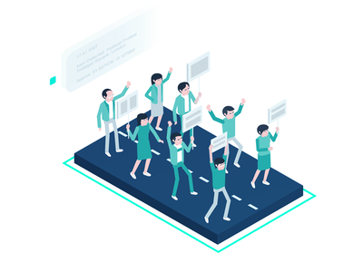 Explainer Social Media Illustration journalism zajno media reporting research monitoring isometric illustration enterprise delivery data collection