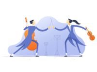 Medium: Managing Creative People Illustration Set