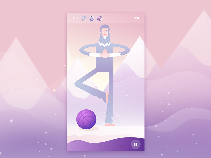 iOS Basketball Game Background Illustration