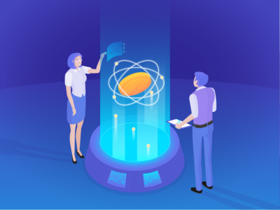 Another Illustration for a New Cryptocurrency Website
