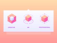 Mega Menu Icons for Web Application