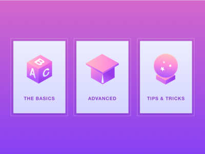 Learn Page Icons for Web Application