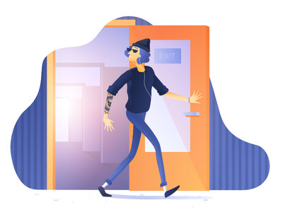 New Article on Medium: Switching Careers in Tech exit growth evolution job search zajno experience tech dev story medium illustration article