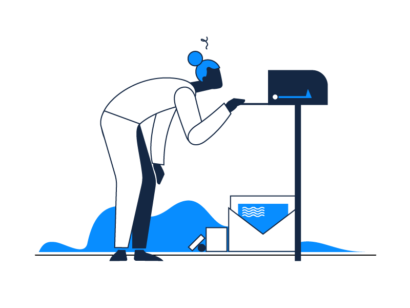 No New Notifications illustrative design smart symbol neat minimal character business email mail clean app letter zajno ecomerce simple minimalistic envelope mailbox notifications illustration
