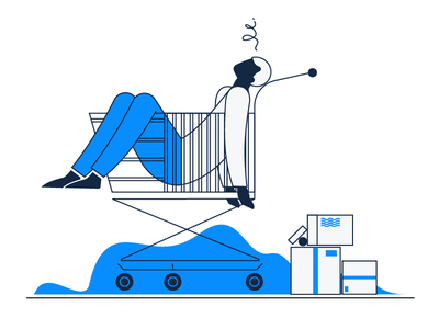 'No Orders' Empty State Illustration simple design web app ui  ux business stylish minimal abstract clever smart character informative clean update zajno simple minimalistic cart empty space no orders illustration