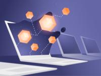 Illustration for Blockchain Loyalty Frequent Flyer Platform