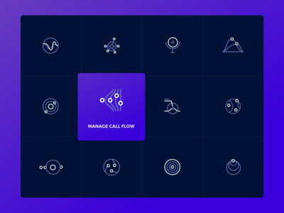 Icons for a New Global Telecommunications Website