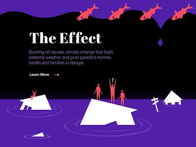 Saving the Arctic: People Over Oil experiment web design visual art visual promo site creative bright colors bold climate ocean greenpeace illustration arctic oil problem solving environment web zajno ui ux