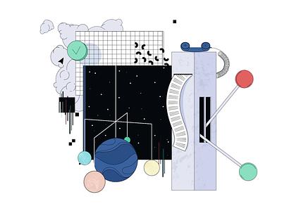 New Medium Article: A Space of Trust futuristic animation branding medium geometric design animated illustration 2d ringba otherworldly experimental abstract sales trust growth telecom zajno article spirit knowledge