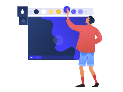 Illustrations for a Video Hosting & Marketing Platform live friendly human centered rebranding marketing platform business bright colors hipster informal casual office expressive character design branding flat video software zajno new style smart illustration