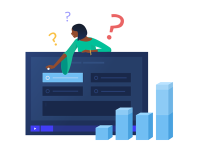 Illustrations for a Video Hosting & Marketing Platform app interactive polls human centered rebranding marketing platform business bright colors hipster neat clean video player expressive character design branding flat video software zajno new style smart illustration