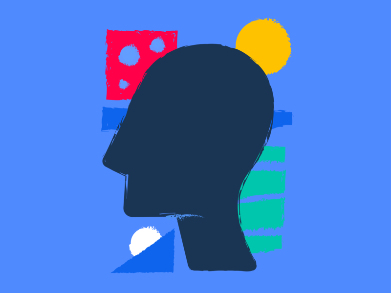 Let colors inside - Mobile App Illustrations identity personality person illustrative hand drawn creativity inspiration express self bright colors illustration mobile app design experiment geometric shape branding flat 2d metaphor abstract zajno