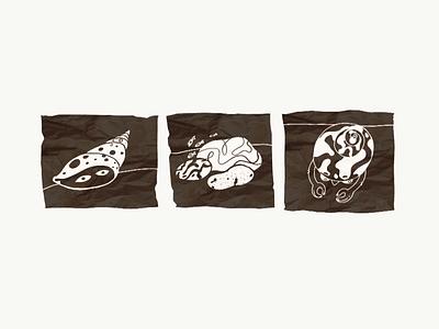 iPad Pro Illustration Inspired by the Sea ink drawing graphic minimal underwater adobe draw texture nature ocean marine life sea shell ipad pro video drawing digital painting creative creation process hand drawn creativity inspiration illustration